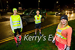 Michelle Greaney launches the Be Safe Be Seen for the Winter running program on Tuesday evening. Front right: Michelle Greaney. Back l to r: Doreen Moore and Tommy Horan.