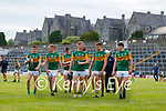 Paudie Clifford, Kerry, Stephen O'Brien, Kerry, David Clifford, Kerry, Seán O'Shea, Kerry, Gavin Crowley, Kerry, Adrian Spillane, Kerry, Mike Breen, Kerry, after the Allianz Football League Division 1 Semi-Final, between Tyrone and Kerry at Fitzgerald Stadium, Killarney, on Saturday.