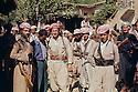 """Iraq 1963 .Peshmergas in a village.Irak 1ç§"""".Peshmergas dans un village"""