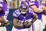 Minnesota Vikings running back Adrian Peterson (28) in action during the pre-season game between the Minnesota Vikings and the Dallas Cowboys at the AT & T stadium in Arlington, Texas. Minnesota defeats the Cowboys 28 to 14.