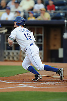 Hank Blalock #15 Third Baseman Durham Bulls (Rays) May 7, 2010 Photo By Tony Farlow/MiLB.com