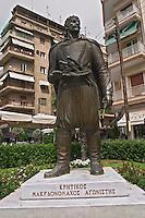 Statue of Kritikos of Macedonia. Thessaloniki, Macedonia, Greece