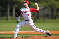 Pitcher Andrew Armstrong #19 of the Ohio State Buckeyes during a game vs the St. John's Red Storm at the Big East-Big Ten Challenge at Walter Fuller Complex in St. Petersburg, Florida;  February 20, 2011.  Ohio State defeated St. John's 8-7 in 11 innings.  Photo By Mike Janes/Four Seam Images