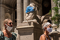New York Public Library, New York City, July 2nd, 2020.<br /> <br /> Keep Going New York!!! A project by Stefan Falke about the streets of New York City during the Corona Crisis 2020.