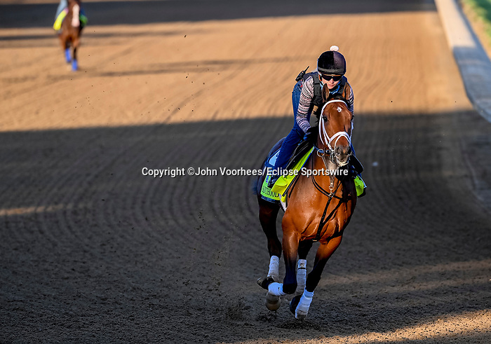 April 27, 2021: Sainthood, trained by trainer Todd Pletcher, /ex/on April 27, 2021 in Louisville, Kentucky. John Voorhees/Eclipse Sportswire/CSM