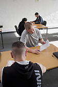 Assessment test at the end of a one day Food Hygiene training, part of a two week welfare-to-work course run by Rochdale and Oldham Groundwork for claimants on Job Seekers Allowance that qualifies as Mandatory Work Related Activity.