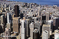 aerial photograph San Francisco financial district California