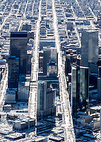 Denver Colorado, winter aerial of downtown.  Jan 2, 2015