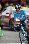 Nairo Quintana (COL) Movistar Team takes the final bend to win Stage 18 of the 2019 Tour de France running 208km from Embrun to Valloire, France. 25th July 2019.<br /> Picture: John Pierce/PhotoSport Int. | Cyclefile<br /> All photos usage must carry mandatory copyright credit (© Cyclefile | John Pierce/PhotoSport Int.)