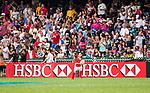 HSBC ball-carriers at the HSBC Hong Kong Rugby Sevens 2017 on 09 April 2017 in Hong Kong Stadium, Hong Kong, China. Photo by Marcio Rodrigo Machado / Power Sport Images