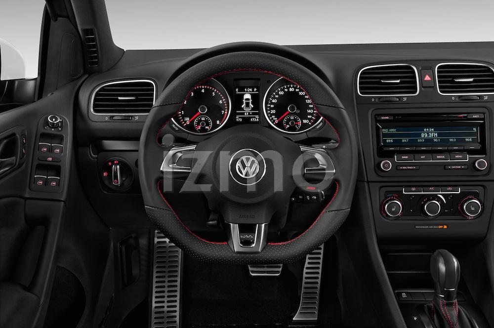 Steering wheel view of a 2013 Volkswagen GTI 4 Door hatchback2013 Volkswagen GTI 4 Door hatchback