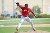 Boston Red Sox pitcher Darwinzon Hernandez (62) during an instructional league game against the Minnesota Twins on September 26, 2015 at CenturyLink Sports Complex in Fort Myers, Florida.  (Mike Janes/Four Seam Images)