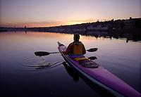 Sea kayaking at South Lake Union Park, Seattle, WA.