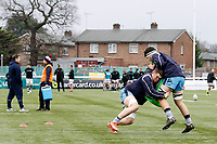 Matt Eliet of London Scottish during the Greene King IPA Championship match between Ealing Trailfinders and London Scottish Football Club at Castle Bar , West Ealing , England  on 19 January 2019. Photo by Carlton Myrie/PRiME Media Images