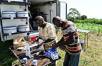 KENYA, County Bungoma, Mabanga, agricultural training institute, mobile soil testing lab / KENIA, landwirtschaftliches Traningszentrum, mobiles Bodentest und Analyse Labor