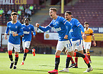 27.09.2020 Motherwell v Rangers:  Cedric Itten celebrates his second and Rangers fifth goal