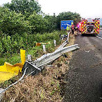 2019 06 23 Car which dropped 30ft off the M4 motorway, Margam Junction in south Wales, UK