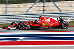 Ferrari driver Kimi Raikkonen (7) of Finland in action during the Formula 1 United States Grand Prix race at the Circuit of the Americas race track in Austin,Texas.