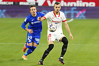 Sevilla FC' Juan Jordan (r) and Getafe CF's Nemanja Maksimovic during La Liga match. February 6,2021. (ALTERPHOTOS/Acero)<br /> Liga Spagna 2020/2021 <br /> Sevilla FC Vs Getafe <br /> Photo Acero/Alterphotos / Insidefoto <br /> ITALY ONLY