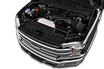 Car Stock 2020 Ford F-150 Lariat 4 Door Pick-up Engine  high angle detail view