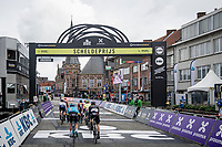 breakaway group finishing lap 5 of 10 laps > due to the pandemic and the closure for sporting events in The Netherlands (where the Scheldeprijs usually starts) the race was reduced to local laps<br /> <br /> 108th Scheldeprijs 2020 (1.Pro)<br /> 1 day race from Schoten to Schoten BEL (173km)<br /> <br /> ©kramon