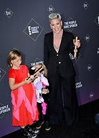 SANTA MONICA, USA. November 11, 2019: Pink, Willow Hart & Jameson Hart at the 2019 E! People's Choice Awards at Santa Monica Barker Hangar.<br /> Picture: Paul Smith/Featureflash