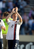 Frank Simek applauds the crowd. The USA defeated China, 4-1, in an international friendly at Spartan Stadium, San Jose, CA on June 2, 2007.