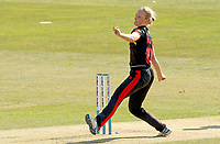 Katie Wolfe of Sunrisers in bowling action during Sunrisers vs South East Stars, Rachael Heyhoe Flint Trophy Cricket at The Cloudfm County Ground on 13th September 2020