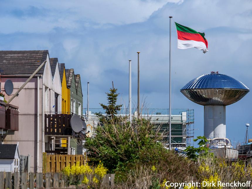 Wasserturm im Südhafen, Unterland, Insel Helgoland, Schleswig-Holstein, Deutschland, Europa<br /> water tower at south port, Helgoland island, district Pinneberg, Schleswig-Holstein, Germany, Europe