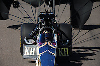 Oct. 16, 2011; Chandler, AZ, USA; NHRA top fuel dragster driver Del Worsham during the Arizona Nationals at Firebird International Raceway. Mandatory Credit: Mark J. Rebilas-