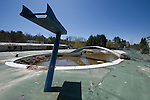 Diving Board Platform of the Outside Pool of and Abandoned Hotel