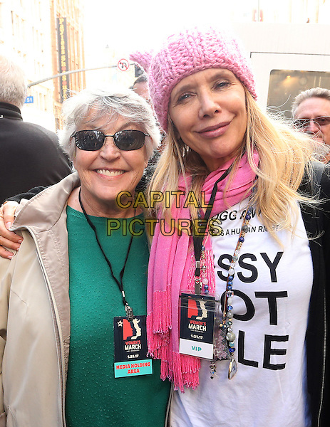 ALos Angeles CA - JANUARY 21: Helen Reddy, Rosanna Arquette, At Women's March Los Angeles, At Downtown Los Angeles In California on January 21, 2017. <br /> CAP/MPI/FS<br /> ©FS/MPI/Capital Pictures