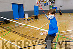 Ben Deegan from Curaheen Tralee at the open day registration for the Tralee Juvenile Badminton in the Sports Complex on Saturday.