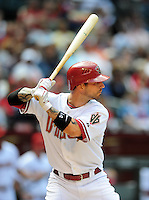 Apr. 15, 2009; Phoenix, AZ, USA; Arizona Diamondbacks player Ryan Roberts against the St. Louis Cardinals at Chase Field. Mandatory Credit: Mark J. Rebilas-