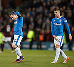 Barrie McKay and Michael O'Halloran show their disappointment at full-time
