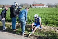 Jack Bauer (NZL/QuickStep Floors) crashed out<br /> <br /> 60th E3 Harelbeke (1.UWT)<br /> 1day race: Harelbeke › Harelbeke - BEL (206km)