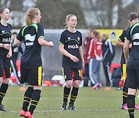 Denmark U17 - Belgium U17 : 13 Margaux Van Ackere.foto DAVID CATRY / Vrouwenteam.be