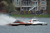 "Jim Mauldin, E-31 and Kip Brown, E-1 ""MY-Way"" race off the first turn. (5 Litre class hydroplane(s)"