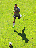 Formiga of team Brazil at a training session during the FIFA Women's World Cup at the FIFA Stadium in Dresden, Germany on July 9th, 2011.