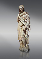Roman statue of young Faustina. Marble. Perge. 2nd century AD. Inv no 3045 . Antalya Archaeology Museum; Turkey.
