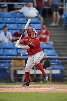 Altoona Curve catcher Jackson Williams (43) at bat during a game against the Binghamton Rumble Ponies on May 17, 2017 at NYSEG Stadium in Binghamton, New York.  Altoona defeated Binghamton 8-6.  (Mike Janes/Four Seam Images)