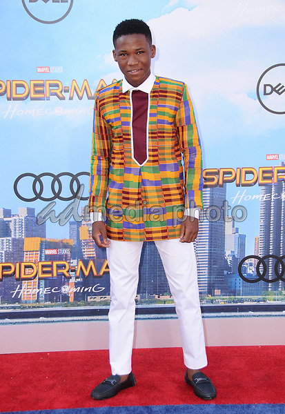 """28 June 2017 - Hollywood, California - Abraham Attah. """"Spider-Man: Homecoming"""" Los Angeles Premiere held at the TCL Chinese Theatre in Hollywood. Photo Credit: Birdie Thompson/AdMedia"""