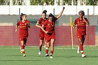 4th September 2021; Agostino di Bartolomei Stadium, Rome, Italy; Serie A womens championship football, AS Roma versus Napoli ; Andressa Alves of Roma celebrates after scoring her goal