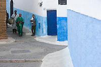 Afrique/Afrique du Nord/Maroc/Rabat: dans les ruelles de la kasbah des Oudaïas - musiciens des rues
