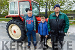 Kenneth Allen, Oisin and Ray Flavin attending Abbeydorney Vintage Tractor and Car run in Abbeydorney on Saturday.