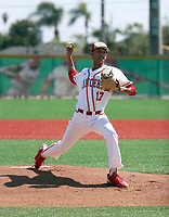 Christian Rodriguez of Orange Luthern HS Lancers plays in the Boras Classic of California on April 18-21, 2017 at Mater Dei High School and JSerra High School in Orange County, California  (Bill Mitchell)