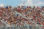 Fans pack the stands during the Formula 1 Aramco United States Grand Prix practice session held at the Circuit of the Americas racetrack in Austin,Texas.