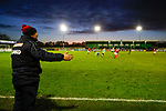 Kevin Wilkin manager of Brackley Town urges his team on. Blyth Spartans v Brackley Town, 30112019. Croft Park, National League North. Photo by Paul Thompson.