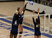 Abby Harris (22) of Rogers crushes the ball against Bentonville West at Rogers High School, Rogers, AR, on Thursday, September 9, 2021 / Special to NWADG David Beach