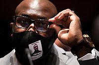 Philonise Floyd, Brother of George Floyd, listens during a hearing on Capitol Hill of the House Judiciary committee about policing practices and law enforcement accountability prompted by the death of George Floyd while in police custody June 10, 2020, in Washington, DC.<br /> Credit: Brendan Smialowski / Pool via CNP/AdMedia